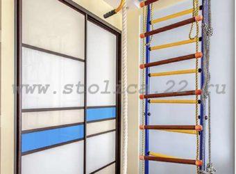 Шкаф-купе встроенного типа в детскую комнату 2 двери