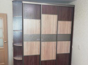 Шкаф-купе Ясень (комбинированный)с торцевым шкафом