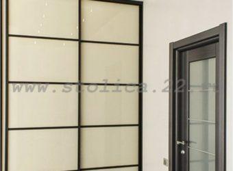Шкаф-купе встроенный (наполнение дверей — стекло)